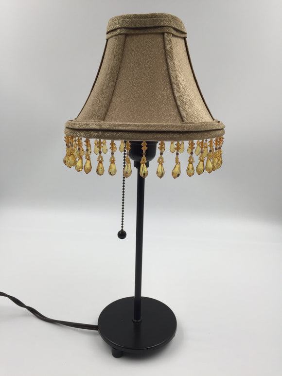 8494 - H - Lamp and Shade w/Crystal