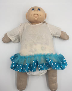 8508 - T - Cabbage Patch Doll - 1984 - No Hair with Polka Dot Tutu.