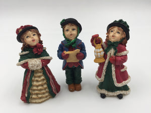 "8520 - C - Set of 3 ""1997"" Princess House Carolers - Very authentic figurines - 3"" tall characters - with Princess House stamp."