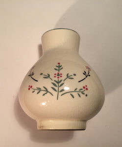 8537 - C - Small Hand Painted Vase with Floral Design