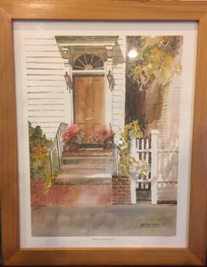 8542 - A - Signed Print - Margaret Petterson - Doorway, Charleston, Limited Edition - 591 /1000