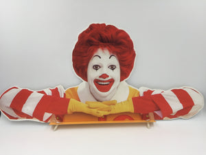 8583 - H - Ronald McDonald Sign - Promotional Piece - Actual Instore Sign - Rare