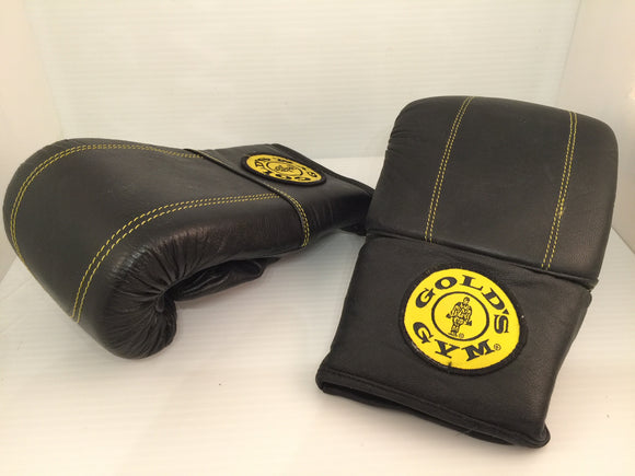 8615 - SP - Gold Gym Genuine Leather Boxing Bag Gloves