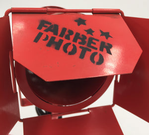 "8664 - H - Shutter Photo Light - Farber Photo - Red - Swivel Base - Directional Adjustments - 14""h x 3-1/4""r"