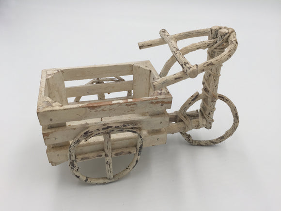 8668 - H - Handmade - Stick Bicycle w/Cart