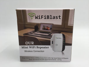 8715 - E - Wifi Blast - Our Mini Repeater - 300 mbps - 2.4GHz High Speed Internet Booster - New in Box - $15.00