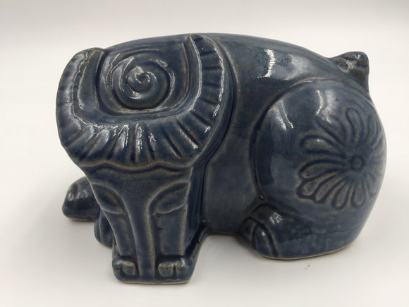 8716 - H - Ceramic Water Buffalo _ Deep Blue - Very Contemporary