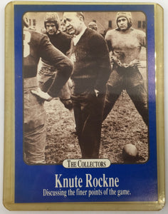8737 - C - Trading Cards - Knute Rockne - One of the Most Famous College Football Coaches - The Collector's Series - Limited Edition 1/25000 - 1990 -