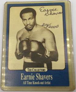 8739 - C - Trading Cards - Earnie Shavers - Originally Signed - Signed Edition 214/2000 - Rare - 1991