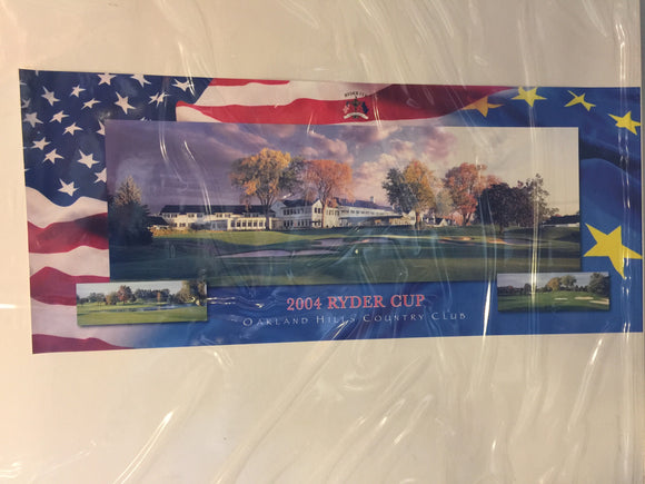 8760 - SP - Poster - 2004 Ryder Cup - Oakland Hills Country Club