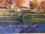 8760 - SP - Poster - 2004 Ryder Cup - Oakland Hills Country Club - If Golf is your Passion and you love golf... this is a memorable art gallery grade collector piece for you