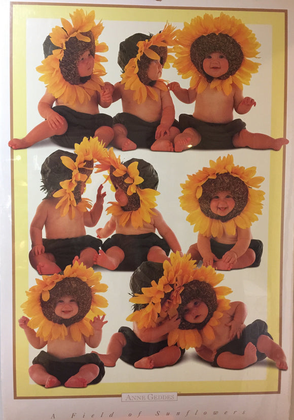 8766 - A - Lithograph - A Field of Sunflowers - Anne Geddes - #PHL552 - 1997