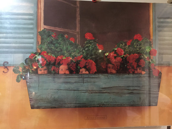 8767 - A - Lithograph - Flower Box - Anne Geddes - PHL549 LITHO - 1996