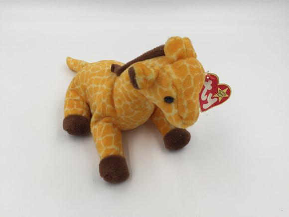 8808 - T - Beanie Baby Giraffe - 1995 - Adorable Yellow and Brown Spotted Collectible with Tags