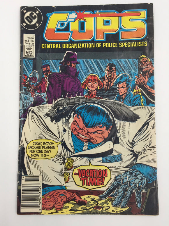 8822 - C - Comic Book - Cops #6 - Central Organization of Police Specialist - 9.0 -