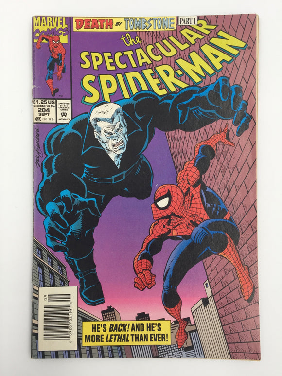 8828 - C - Comic Book - The Spectacular Spiderman #204 - Death By Tombstone Part 1 - 9.0 -