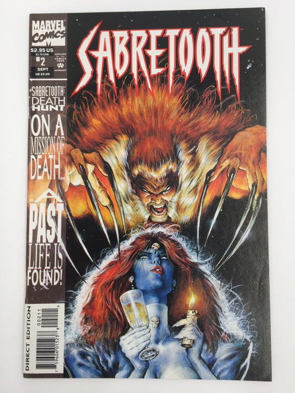 8836 - C - Comic Book - Sabretooth #2 - Sabretooth Death Hunt on a Mission of Death - A Past Life is Found - 9.6 -