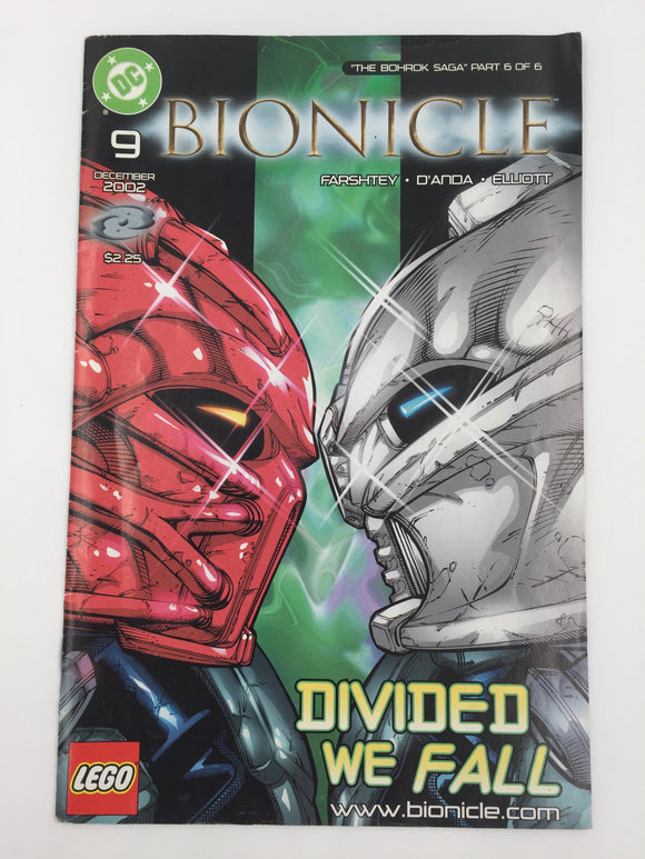 8842 - C - Comic Book - Bionicle #9 - Divided We Fall - 9.4