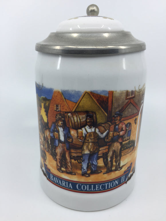 8875 - C - Stroh Bavaria Collection - 2d Limited Edition #11992 - Beer Stein with Lid