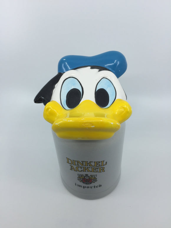 8877 - C - Dinkel Acker imported stein with Donald Duck Lid - Made in Brazil - Stamped and Sticker Ceramarte