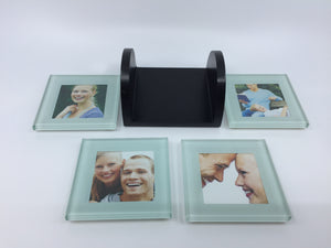 8889 - H - Photo Coasters - Set of 4 Coasters with Holder