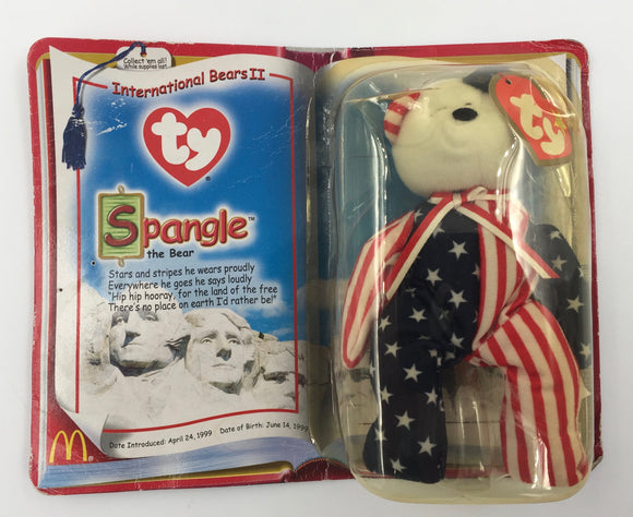 8911 - C - TY Spangle the Bear - International Bears II - Stars and stripes he wears proudly Everywhere he goes he says loudly