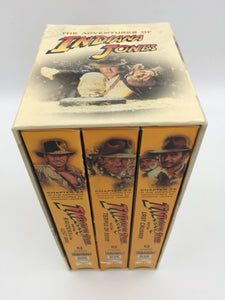 8920 - C - Indiana Jones - 3 VHS Set - Raiders of the Lost Ark - Temple of Doom - Last Crusade 1981,84,89 - Digitally Mastered 1999