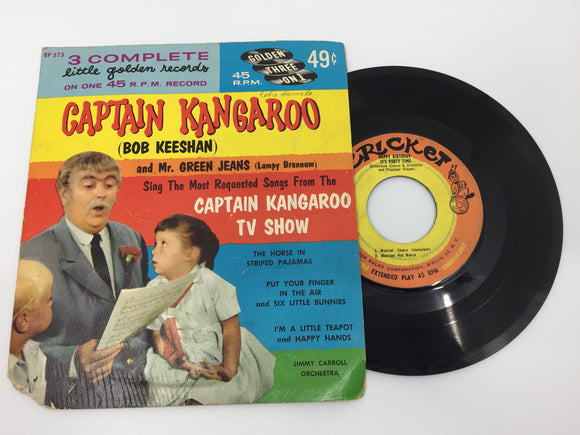 8926 - C - 45 RPM Record - Captain Kangaroo and Mr. Green Jeans  - 1960