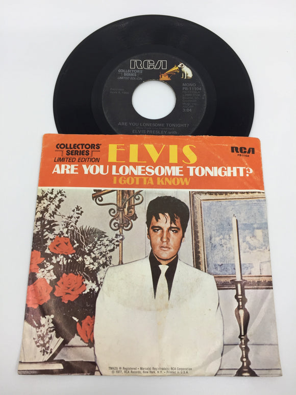 8934 - C - 45 RPM - Elvis Presley - Are You Lonesome Tonight/Gotta Know - Limited Edition - RCA Records