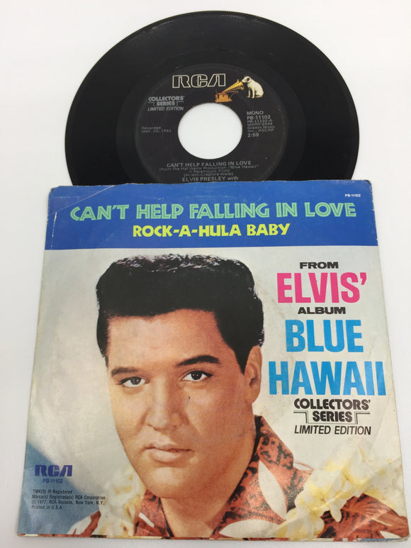 8936 - C - 45 RPM - Elvis Presley - Can't Help Falling in Love With You/Rock-A-Hula Baby - Collector's Series Limited Edition - RCA Records