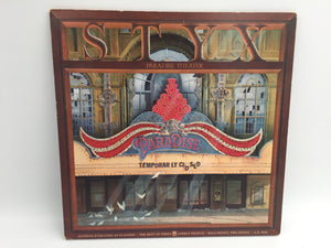 8959 - C - Album - Styx - Paradise Theater - Gala Premier - A Salute and Tribute  to the 1928 Beautiful Chicago Theatre -1980 - Complete Song Lyrics - Member and Theatre Art & Photos - Etched Vinyl Record - Produced and Arranged by Styx -