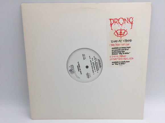 8977 - C - Album - Prong - Live at CBGB's - Single Sided with 3-Tracks - Etched Michael Kirkland - Chrome Rules -Demonstration Not For Sale - 1990 - Epic Records - Very Rare Copy -