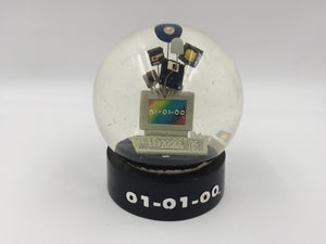 9000 - O - Snow Globe - Millennium Computer - 01-01-00 - Jan 01, 2000 - Unique Piece
