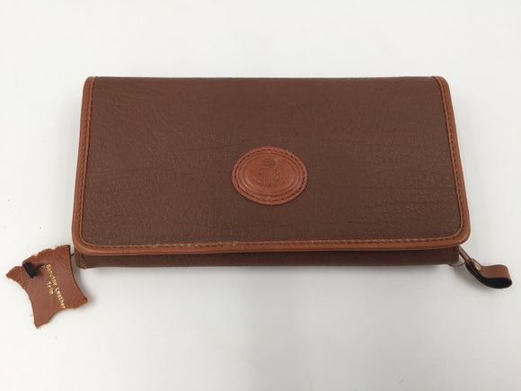 9027 - AP - Wallet - Fina Brand - Genuine Leather Billfold - Many Cool Features - Like mini-purse - New