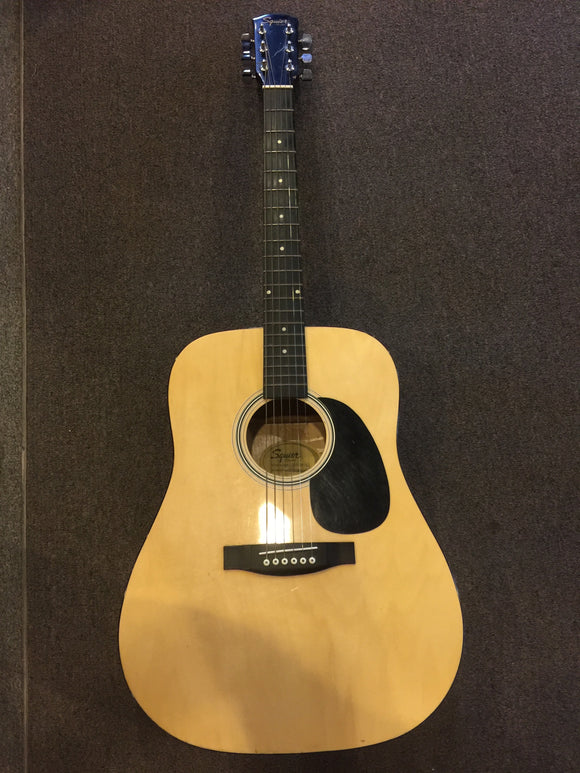 9037 - M - Squier Fender Acoustic Guitar - Dread Nought Style - Full Size - Model #: 093-0300-021 Serial #: 0050-01561 - VGC