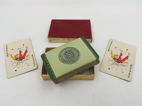 9047 - SP - Vintage Pinochle Playing Cards - L.A. Young Spring & Wire Corp. - Detroit - 1950's - SOS