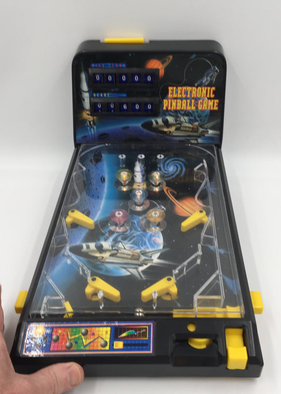 9049 - T - Electronic Space Shuttle Pinball Game - 16 1/2 x 10 1/2 x 8 1/2 - Lights, Sounds, Automatic Score Keeper - with Game Score and High Score Counters - Dual Flappers