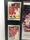 9058 - SP - Detroit Red Wings 95/96 62 Wins NHL Record - 18 X 15 - Uncirculated 9 Play Cards and Team Photo