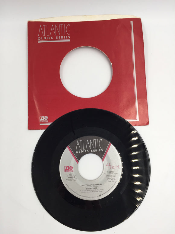 9149 - C - 45 RPM Record - Foreigner - I Want to Know What Love Is- 1984 - Atlantic Recording Corp. - Oldies Series