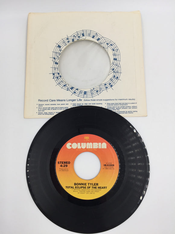 9152 - C - 45 RPM - Bonnie Tyler - Total Eclipse of the Heart - 1983 - Columbia Records