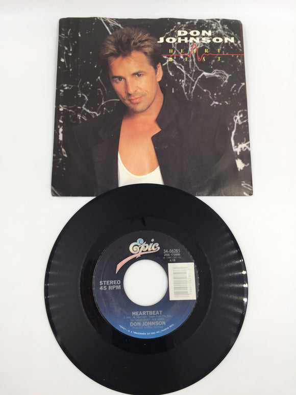 9153 - C - 45 RPM Record - Don Johnson - Heartbeat - 1986 - Epic Records