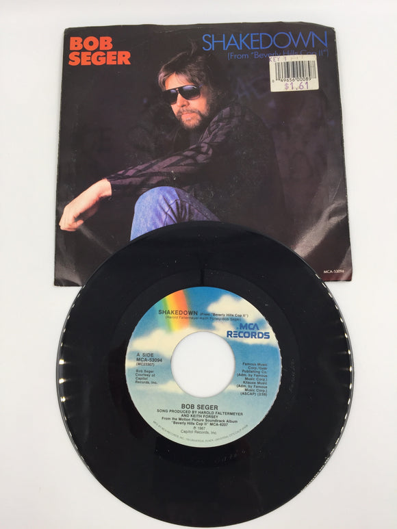 9155 - C - 45 RPM Record - Bob Seger - Shakedown/The Aftermath - 1987 - MCA Records