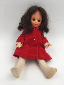 "9203 - T - Posable Doll - 8"" tall - Young Girl with Complete Outfit - Moving Arms, Legs & Eyes - 1992 - Mauve Jacket"