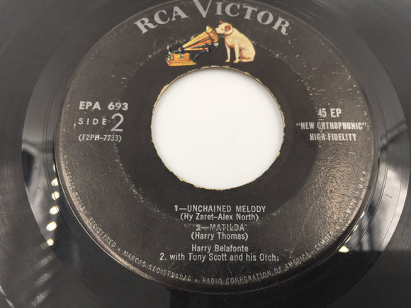 9230 - C - 45 RPM Record - Harry Belafonte - Unchained Melody - RCA Victor