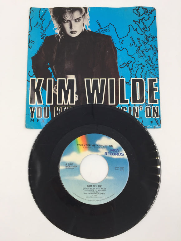 9233 - C - 45 RPM Record - Kim Wilde - You Keep Me Hangin' On - MCA Records