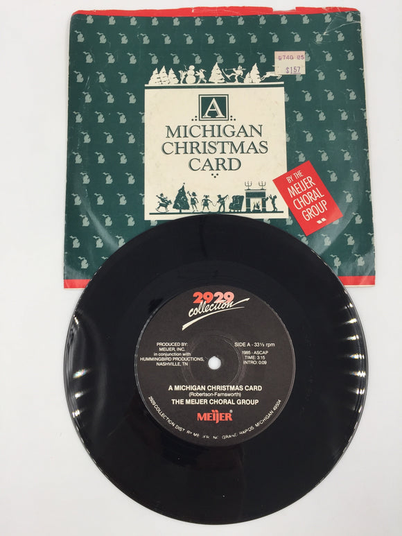 9237 - C - 33 1/3 RPM Record - The Meijer Choral Group - A Michigan Christmas Card