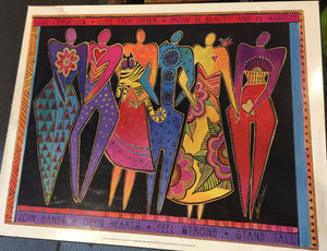 9247 - A - Litho APLH 9412 - Signed Laurel Burch - Join Hands - Open Hearts - Sunrise Publications Inc. - 1994 -
