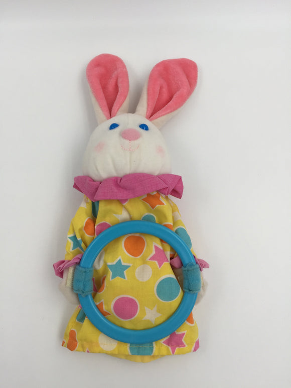 9256 - T - Bunny Hand Puppet - Soft & Cuddly - Brightly Colored - 11