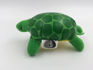 "9257 - T - Turtle Doll  - Made by National Wildlife Federation for McDonald's - 1994 - 4"" x 3"" x 2"" - Cloth and Vinyl Shell"