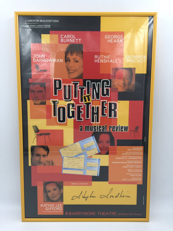 9299 - C - Poster - Putting it Together - A Musical Review - Barrymore Theatre - 2-Ticket Stubs
